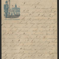 1862-07-18 Charles A. Gates to Mr. & Mrs. Arad Gates Page 1