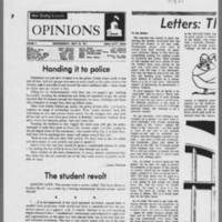 "1971-05-12 Daily Iowan Letters: """"The May Uprising"""" Page 1"