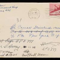 1945-09-28 Evelyn Burton to Carroll Steinbeck Envelope