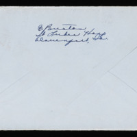 1946-02-18 Evelyn Burton to Carroll Steinbeck - Envelope back