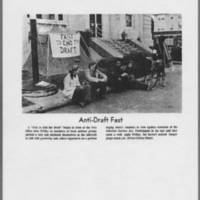 "1971-05-08 Iowa City Press-Citizen Photo: """"Anti-Draft Fast"""""