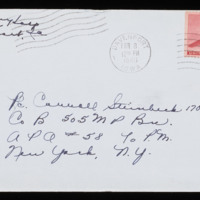 1946-02-01 Evelyn Burton to Carroll Steinbeck - Envelope