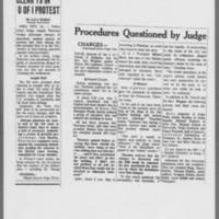 "1971-01-09 Des Moines Register Article: """"Clear 19 In U Of I Protest"""""