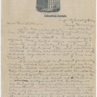 1919-03-30 Robert M. Browning to Dr. Mabel C. Williams Page 1