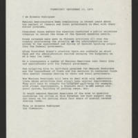 "1973-09-13 Ernesto Rodriguez transcript for """"Viewpoint"""""