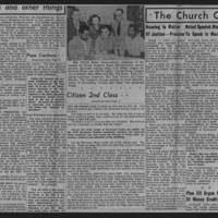 "1951-11-01 The Catholic Messenger Article: ""Citizen 2nd Class"" Page 3"