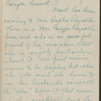 1918-01-16 Daphne Reynolds to Conger Reynolds Page 1