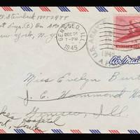 1945-12-12 Carroll Steinbeck to Evelyn Burton - Envelope