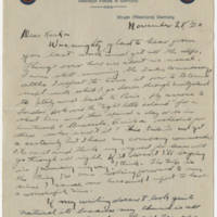 1920-11-28 Bob Browning to Karl Hoffman Page 1