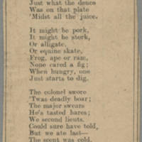 """Clipping: """"""""Ballad Of Officers' Mess"""""""" Page 1"""