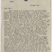 1921-05-28 Bob Browning to Karl Hoffman Page 1