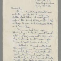 1942-07-19 Laura Davis to Lloyd Davis Page 1