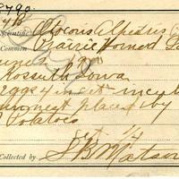 Samuel B. Matson, egg card # 007