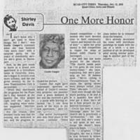 "1978-10-12 Article: """"One More Honor"""""