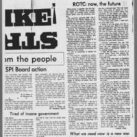 "1970-05-13 Daily Iowan Editorial: """"Strike!"""" Page 2"