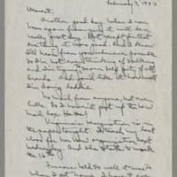 1943-02-03 Laura Davis to Lloyd Davis Page 1