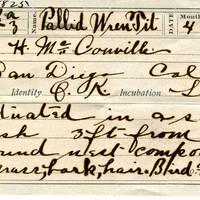 H McConville, egg card # hm001u