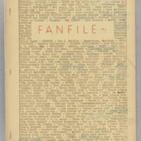 Fanfile, issue 1, February 1942