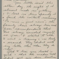 1943-09-12 Freda Caldwell to Laura Frances Davis Page 1