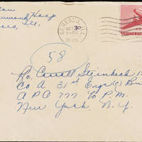 1945-10-29 Evelyn Burton to Carroll Steinbeck - Envelope