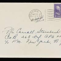 1945-09-12 Evelyn Burton to Carroll Steinbeck - Envelope