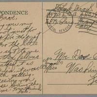 1945-12-02 Lyle Brock to Dave Elder Postcard back