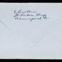 1946-02-20 Evelyn Burton to Carroll Steinbeck - Envelope back