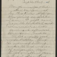 1918-03-07 Thomas Messenger to Mr. & Mrs. N.H. Messenger Page 1