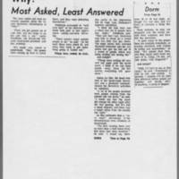 "1971-05-12 Iowa City Press-Citizen Article: """"Why?--Most Asked, Least Answered"""""