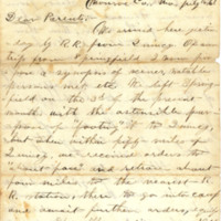 White family papers, July 1861-March 1865