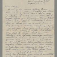 1943-08-22 Maurice Hutchison to Lloyd Davis Page 1