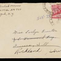 1945-11-13 Carroll Steinbeck to Evelyn Burton - Envelope