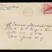 1945-11-12 Evelyn Burton to Carroll Steinbeck - Envelope