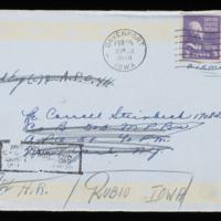1946-02-22 Evelyn Burton to Carroll Steinbeck - Envelope