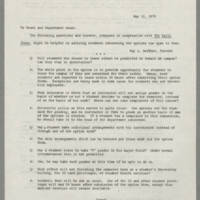 1970-05-12 Memo to Deans and Department Heads Page 1