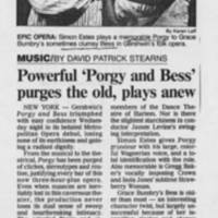 """""Powerful 'Porgy and Bess' purges the old, plays anew"""""