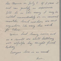 1942-06-30 Maurice Hutchison to Laura Davis Page 2