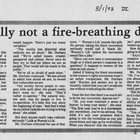 "1972-05-01 Daily Iowan Article: ""I'm really not a fire-breathing dragon"""