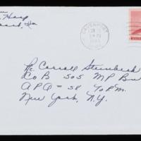 1946-02-03 Evelyn Burton to Carroll Steinbeck - Envelope