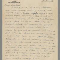 1942-10-31 Lloyd Davis to Laura Davis Page 1