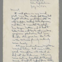 1942-07-20 Laura Davis to Lloyd Davis Page 1