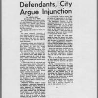"1970-08-06 Daily Iowan Article: """"Defendants, City Argue Injunction"""""