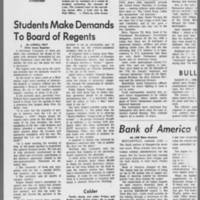 "1971-02-12 Daily Iowan Article: """"Protesters Raid ROTC; One Arrest"""" Page 3"