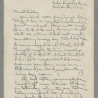 1942-10-21 Laura Davis to Lloyd Davis Page 1