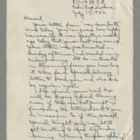 1942-07-17 Laura Davis to Lloyd Davis Page 1