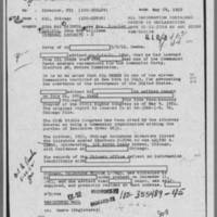 1952-05-29 Special Agent in Charge, Chicago Field Office, Report to Director, FBI Page 1
