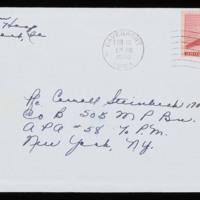 1946-02-05 Evelyn Burton to Carroll Steinbeck - Envelope