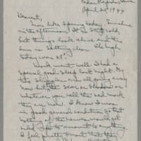 1944-04-25 Laura Davis to Lloyd Davis Page 1