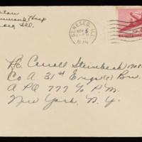 1945-11-03 Evelyn Burton to Carroll Steinbeck - Envelope
