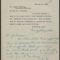 Conger Reynolds correspondence, January-April 1916